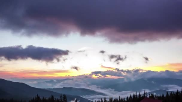 carpathian mountains with cloudy sky