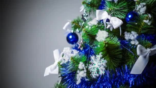 Vánoční strom jedle s dekoracemi