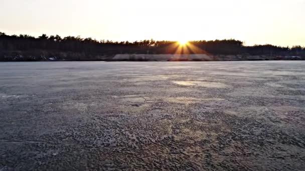 big lake near green forest