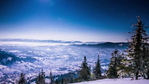 Měsíc a hvězdný čas v Karpatech
