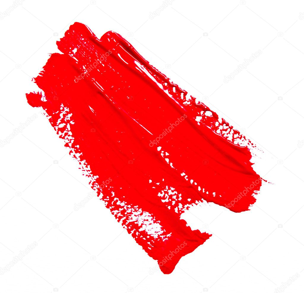 고립 된 페인트 브러시의 빨간 선 — 스톡 사진 © svetamart #124832056