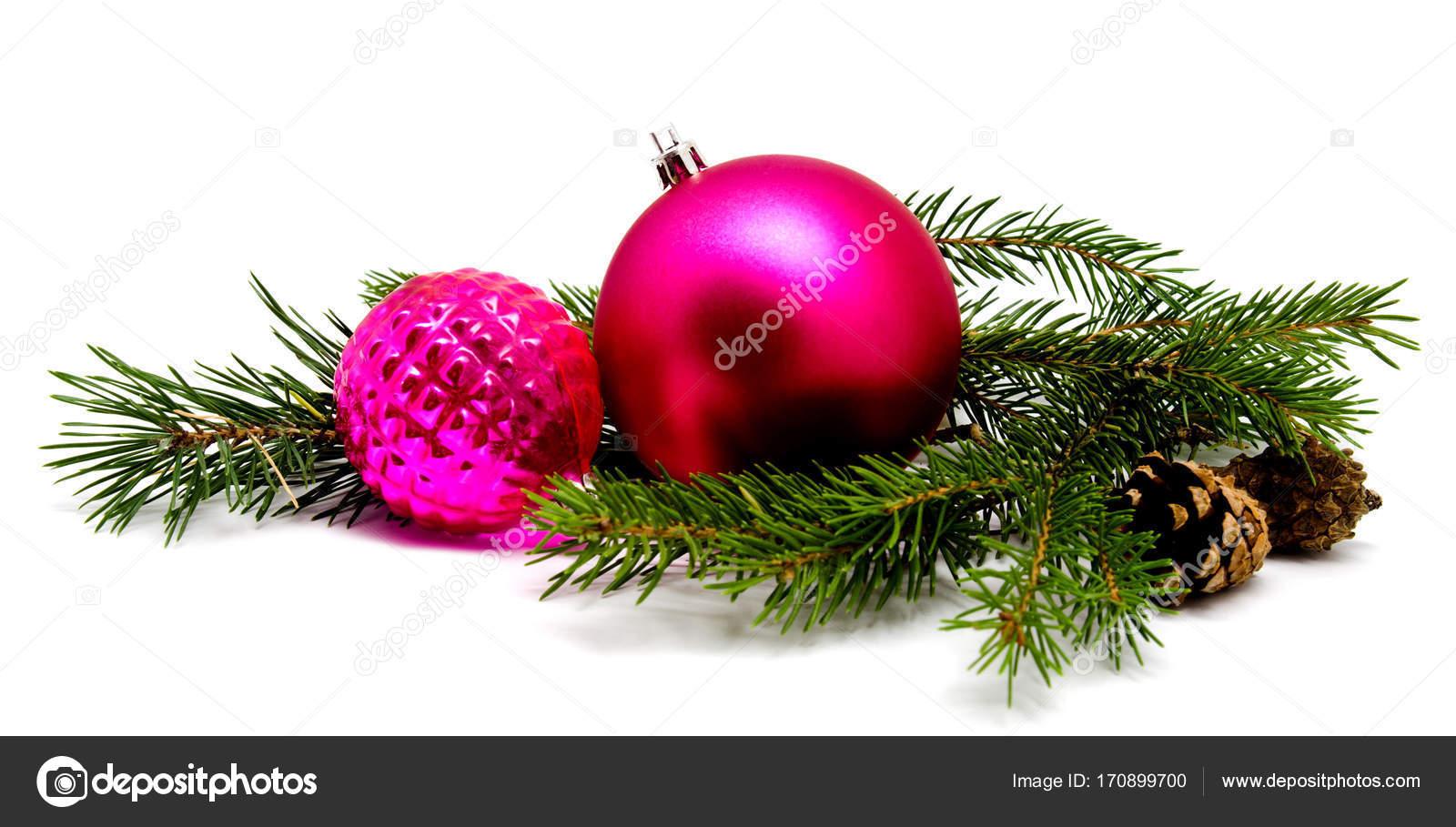 weihnachtskugeln deko lila magenta mit tannenzapfen stockfoto svetamart 170899700. Black Bedroom Furniture Sets. Home Design Ideas