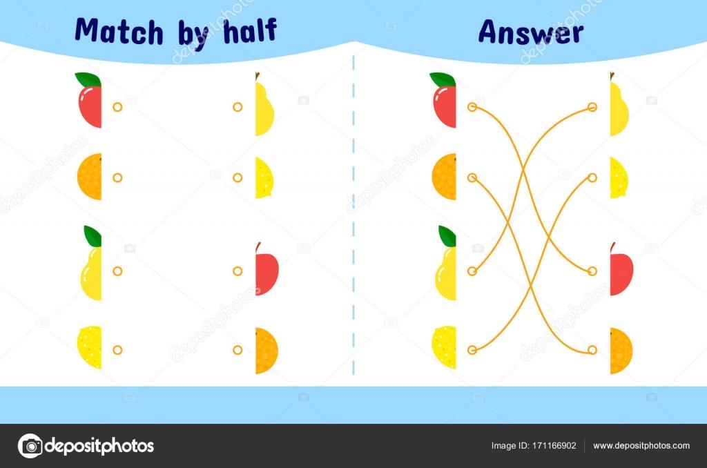 Ilustración de vector. Coincidencia de juego para los niños. Conecte ...