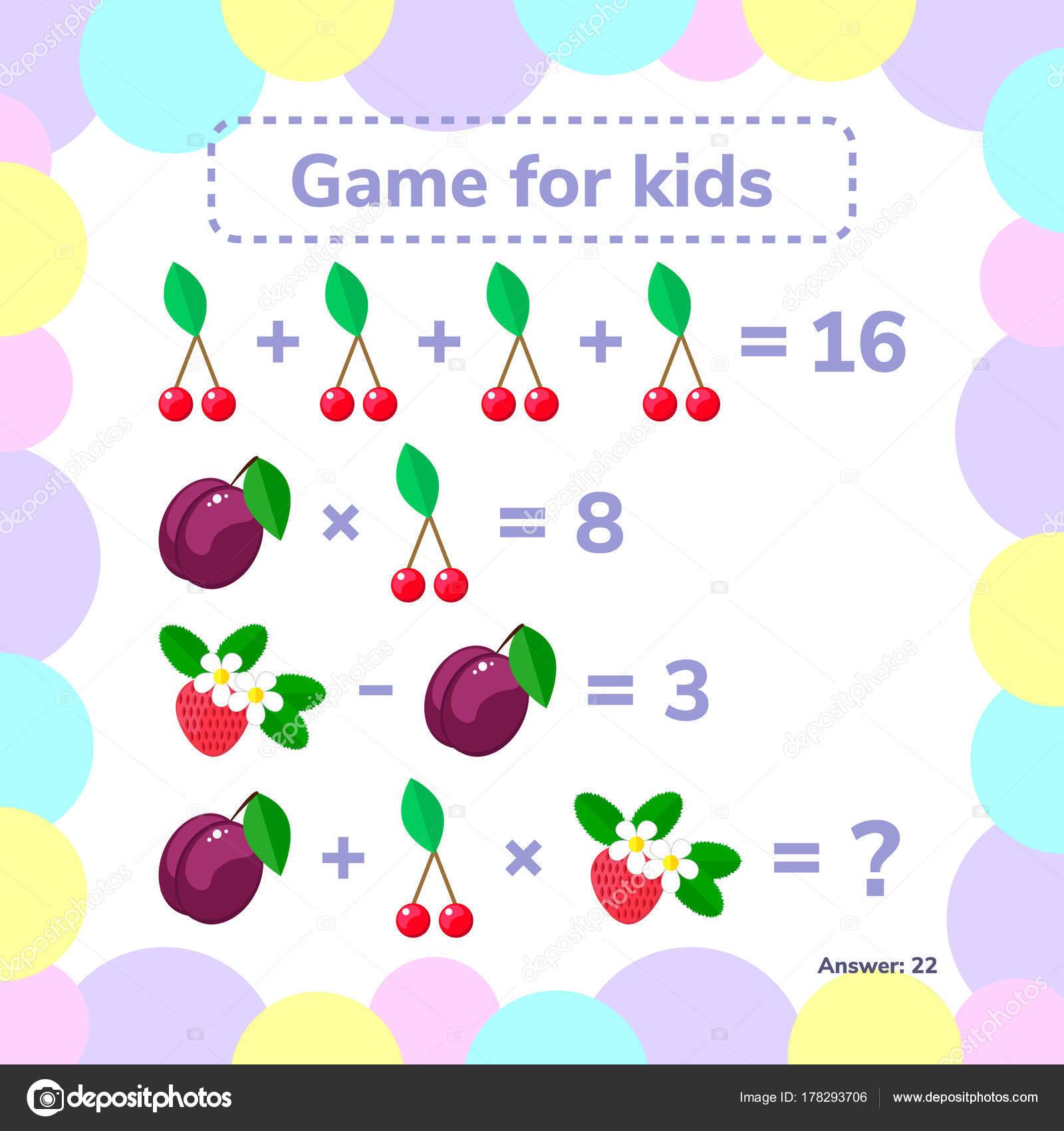 Vektor-Illustration. Educational ein mathematisches Spiel. Logik ...