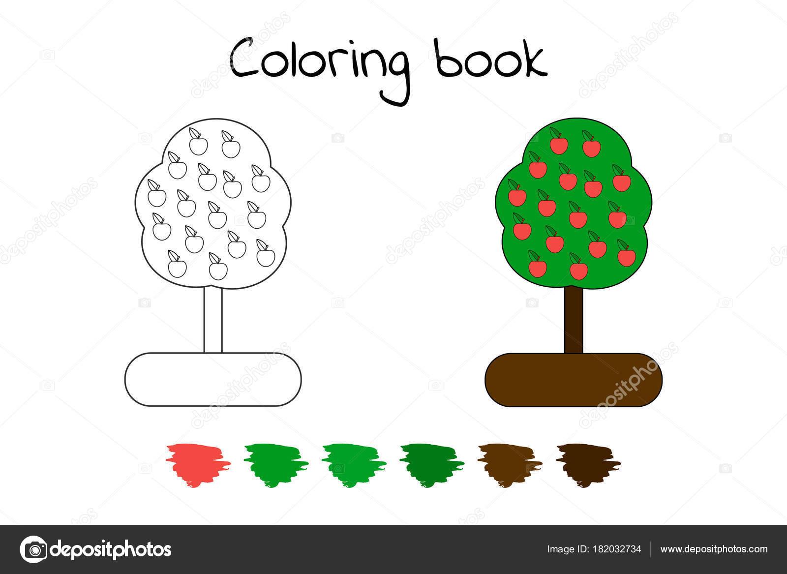 Libro de colorear para los niños. Ilustración de vector. aplicación ...