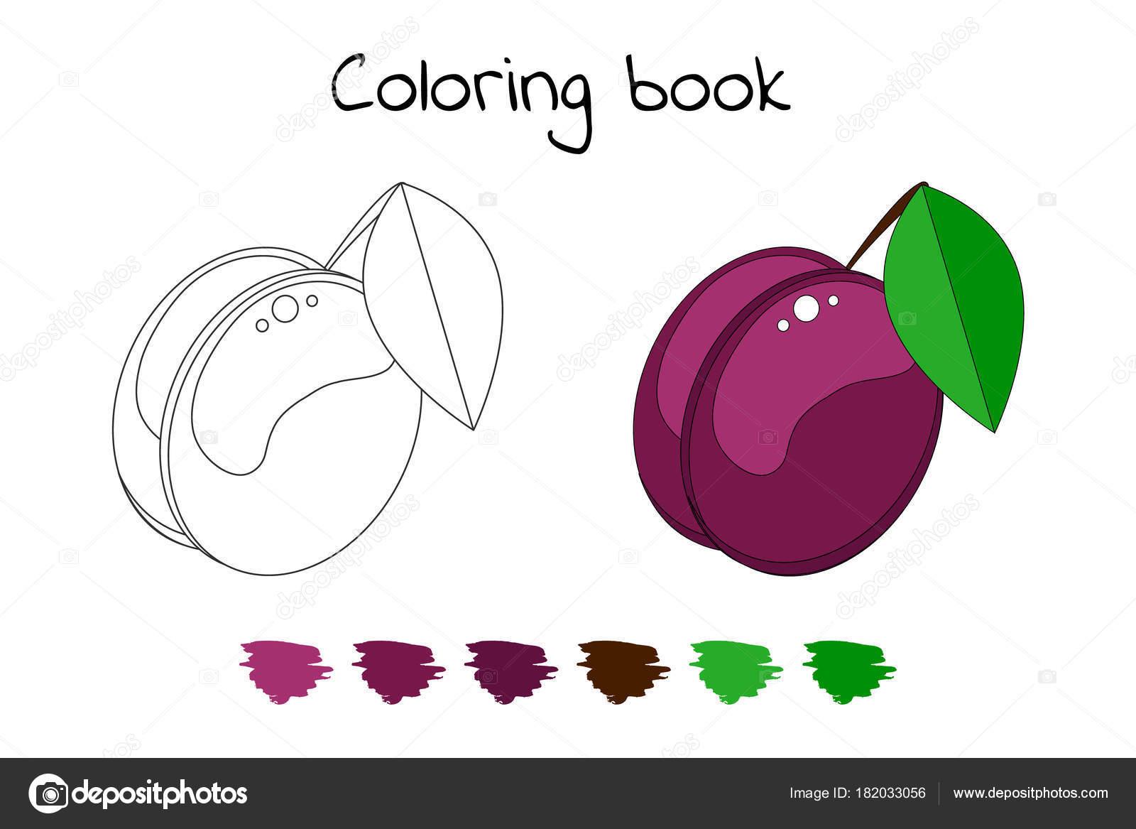 çocuklar Için Boyama Kitabı Vektör çizim Bahçe Berry Pl