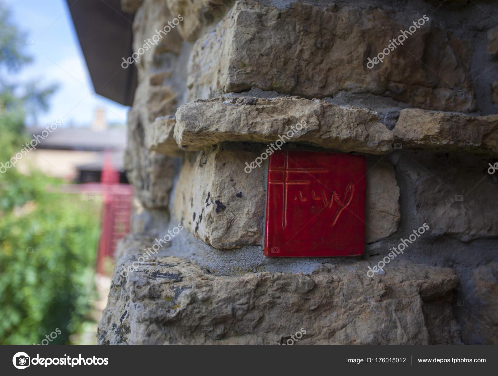 sale retailer 40a14 65142 Firma de teja roja de Frank Lloyd Wright — Foto editorial de ...