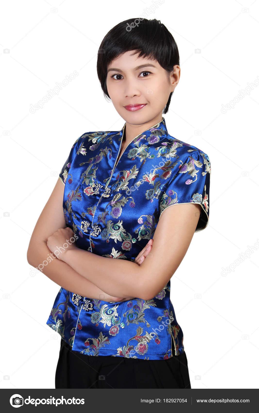 acheter pas cher grande remise nouvelle qualité Femme en vêtements chinois — Photographie pongam © #182927054