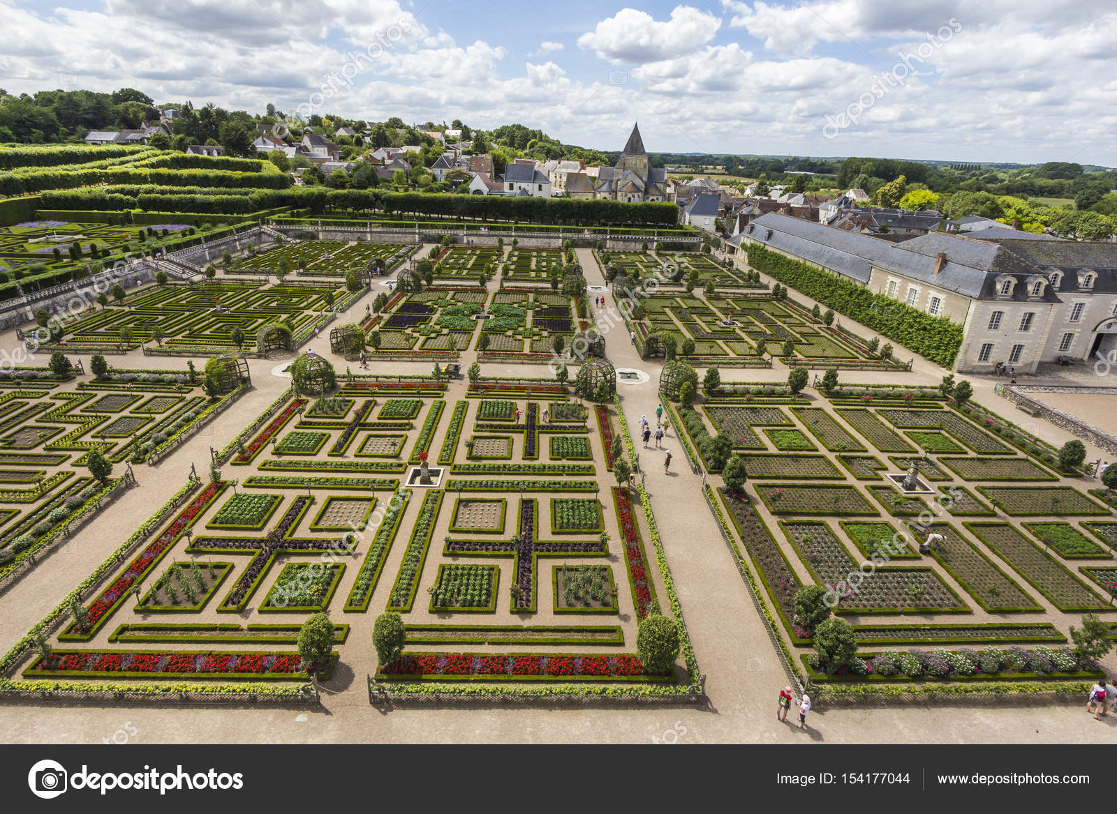 Castle gardens chateau Villandry — Stock Photo ...