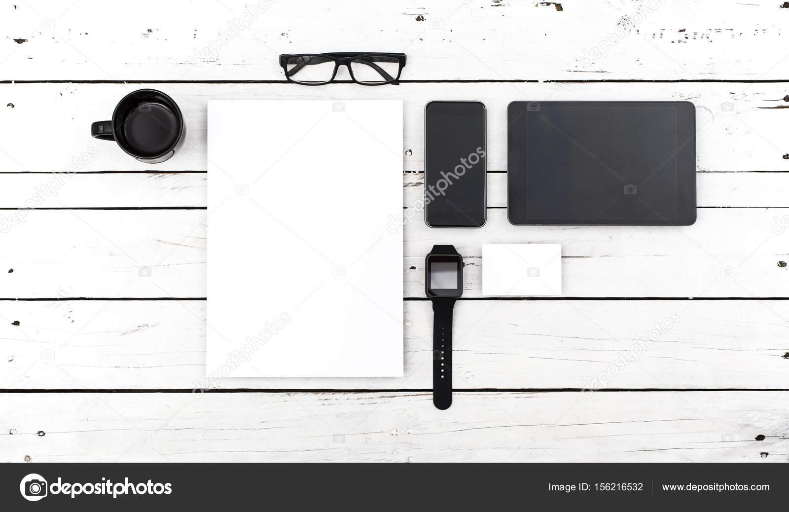 Briefkopf Und Mobile Web Design Vorlage Stockfoto Patrickdegrijs