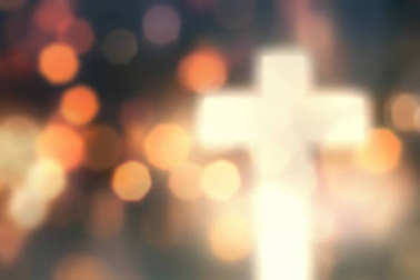 Defocused christian cross