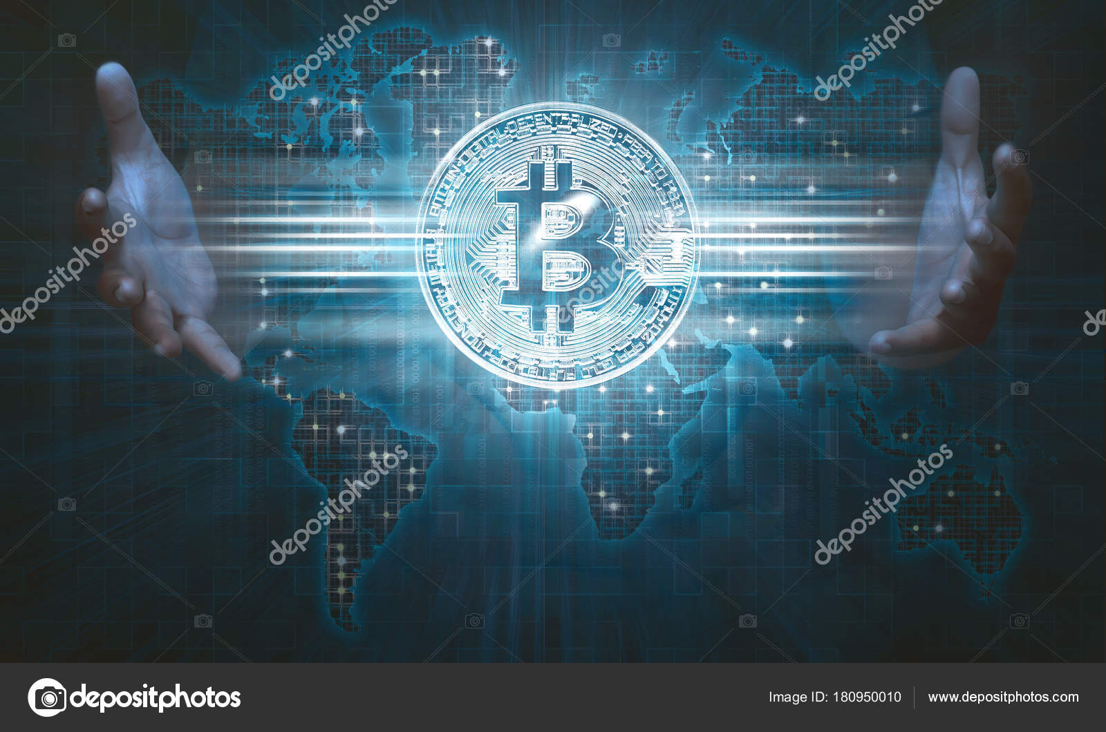 Human hands showing bitcoin icon virtual screen digital world map human hands showing bitcoin icon on virtual screen with digital world map background photo by leolintang gumiabroncs Images