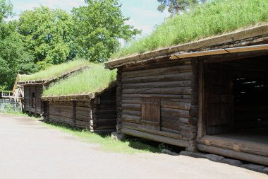 Traditional ancient wooden buildings, Norway