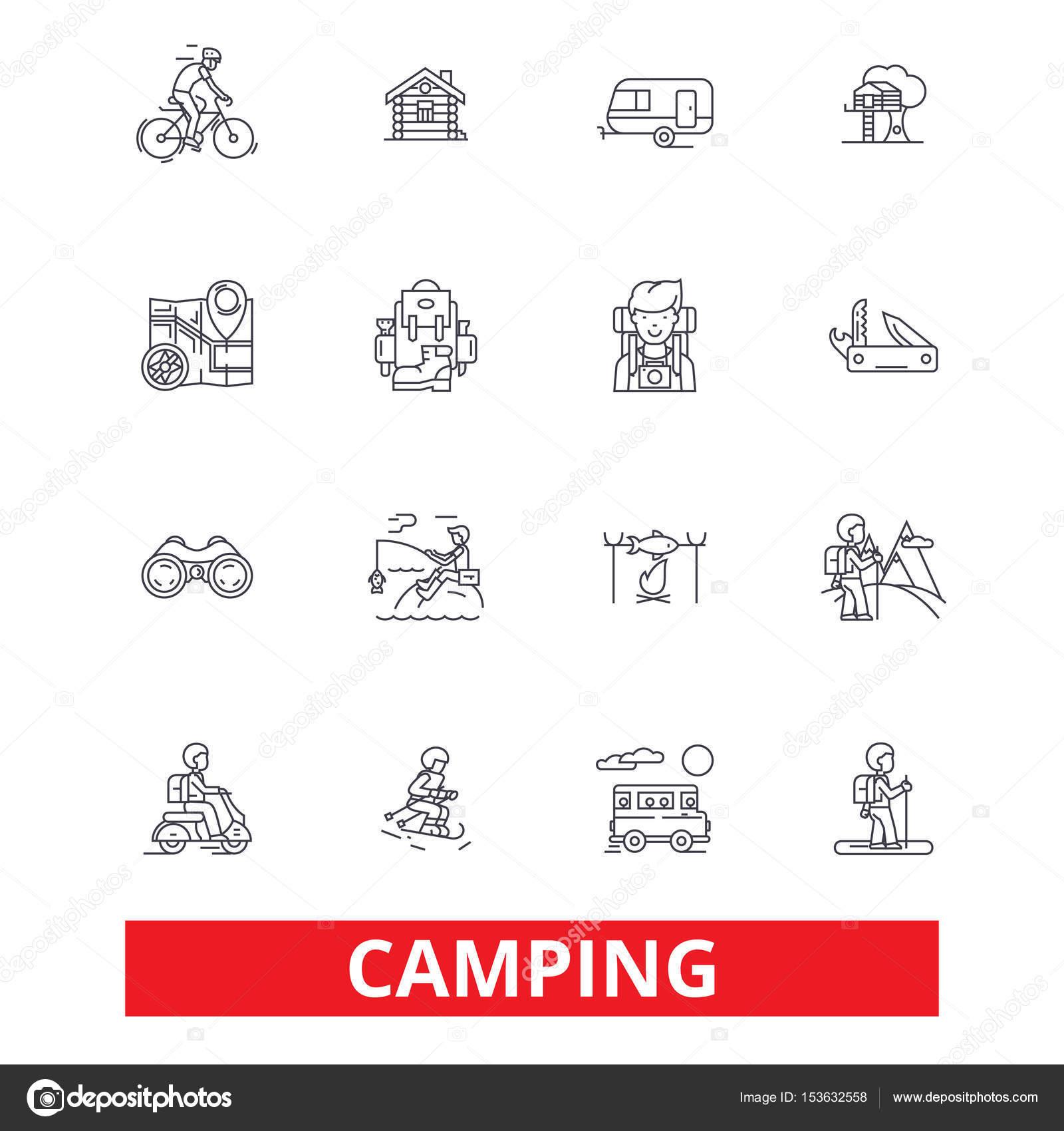 Camping Podróży Rodziny Aktywności Piesze Wycieczki