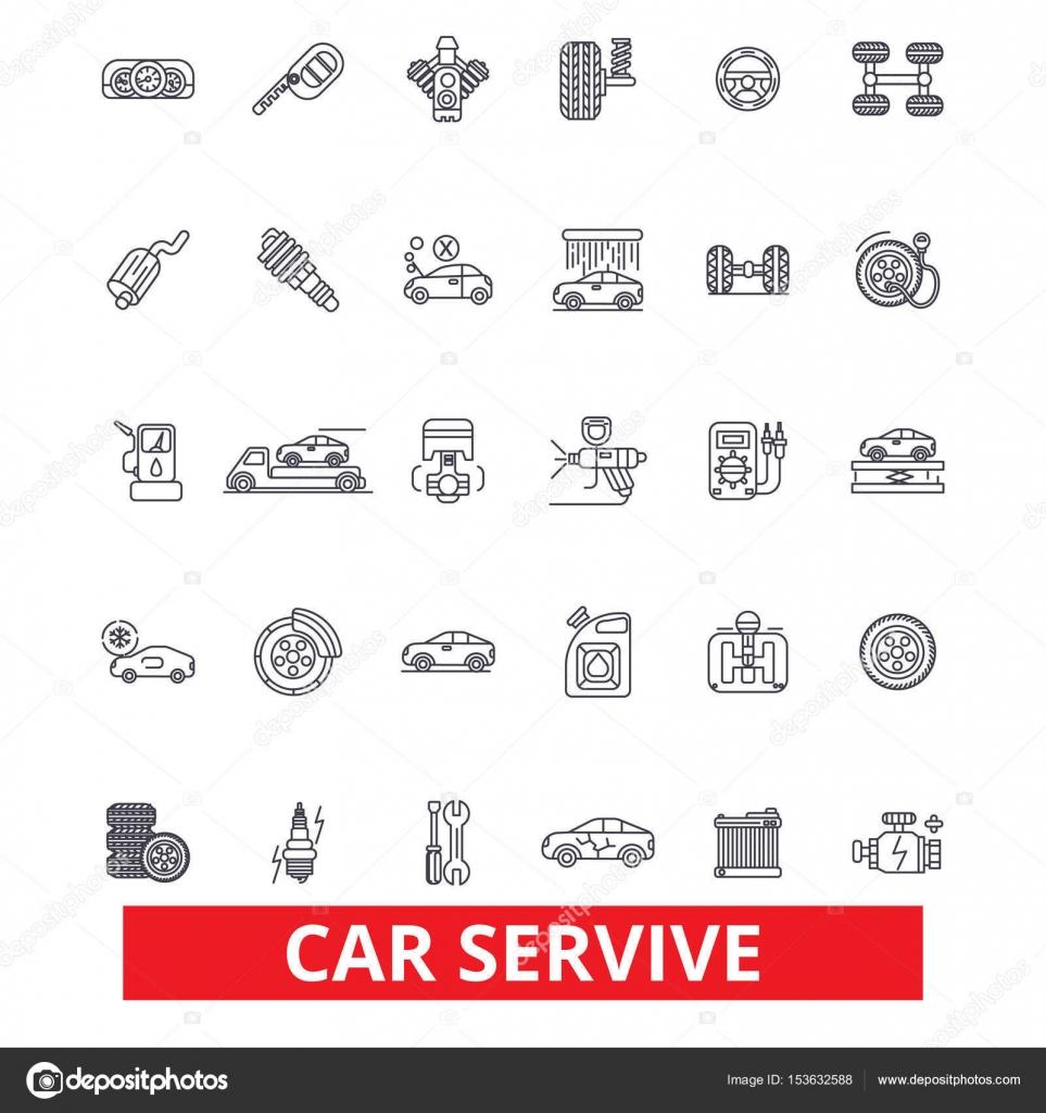 Autoservice, Mechaniker, Motor, Teile, waschen, Reifen Shop ...