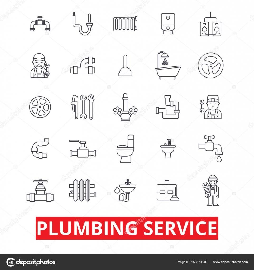 Loodgieter service, buizen en Verwarming, tools, loodgieter, water ...