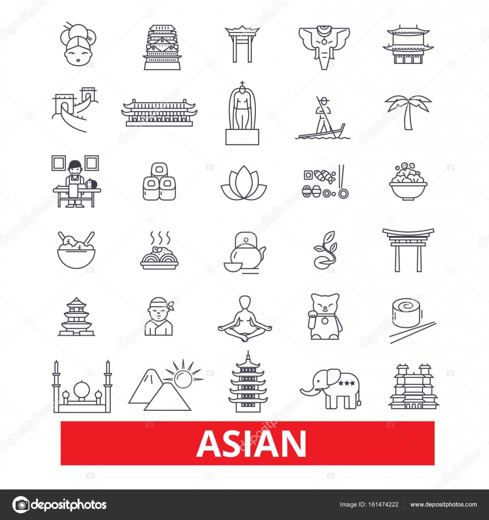 Asien Chinesen Indische Japanische Kultur Asiatische Paar Linie