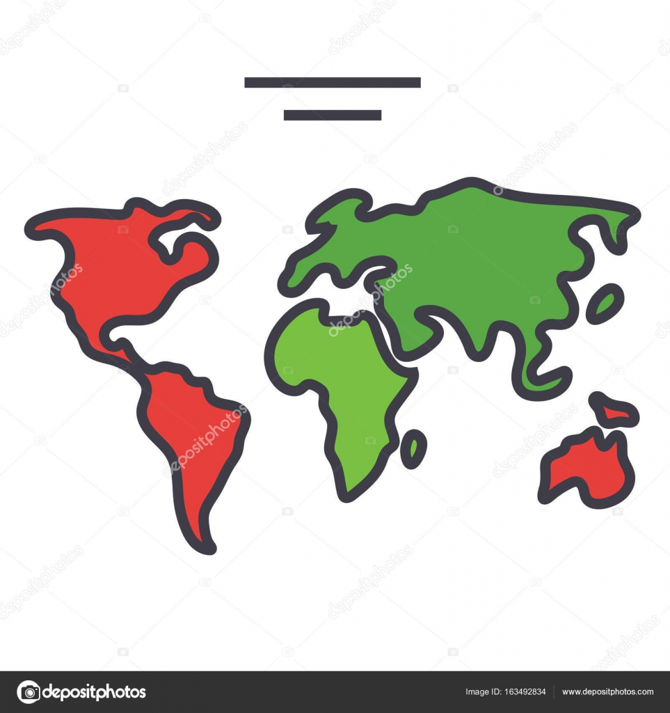 World map continents globe concept line vector icon editable world map continents globe concept line vector icon editable stroke flat linear illustration isolated on white background vector by iconsgraph gumiabroncs Choice Image
