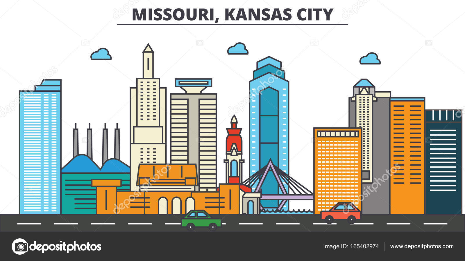 Missouri Kansas City City Skyline Architektur Gebaude Strassen