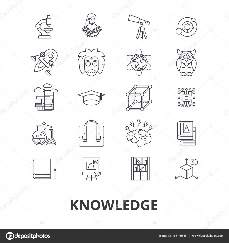 Knowledge learning manader book education information wisdom knowledge learning manader book education information wisdom know brain line icons editable strokes flat design vector illustration symbol concept biocorpaavc Image collections