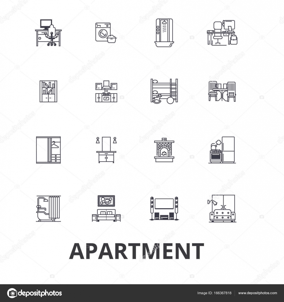 Apartment building house interior flat complex for Apartment design vector