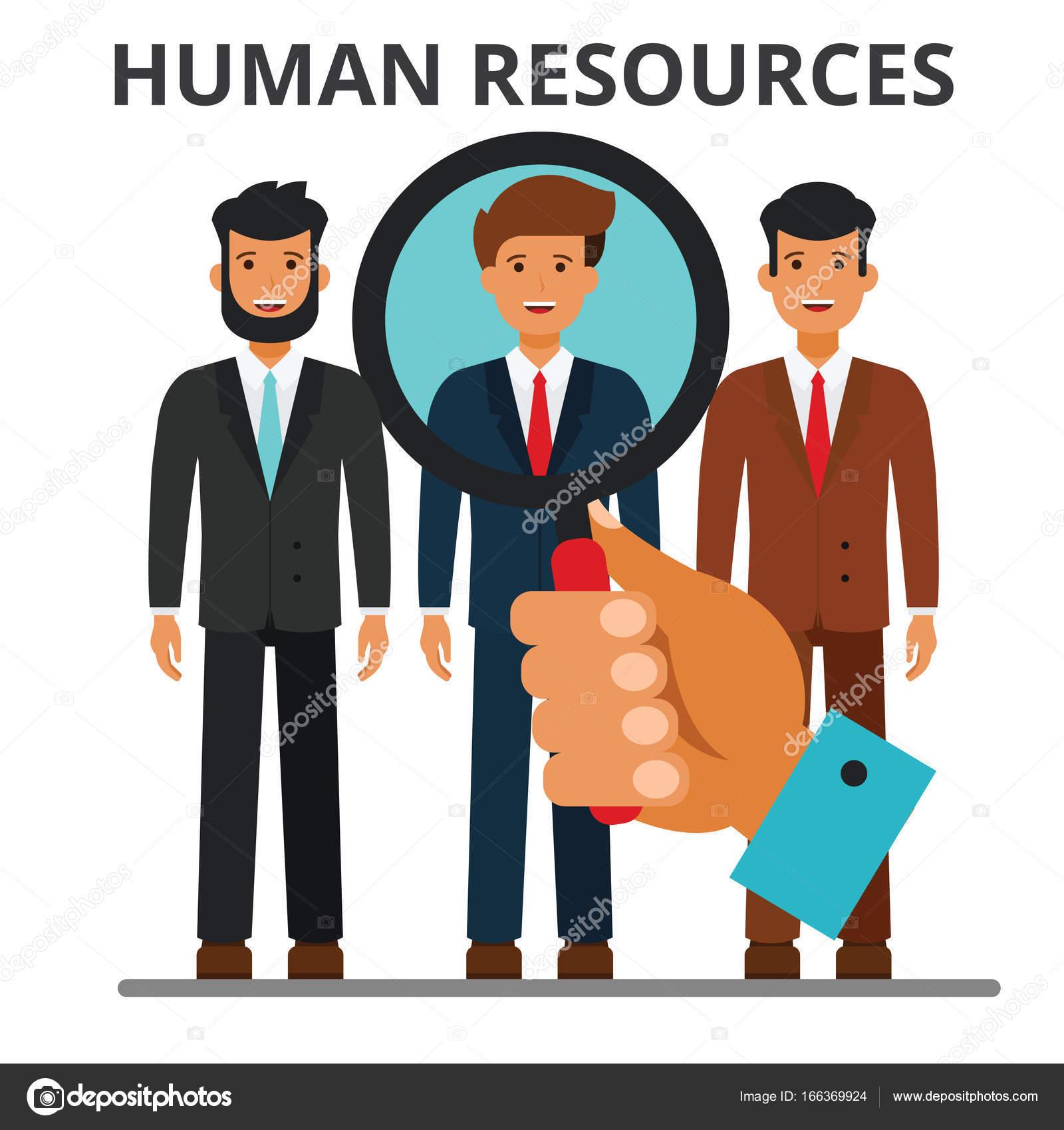 c6cd8ca02d7 Concepto de recursos humanos. Reclutamiento, carrera, búsqueda de la  persona. Contratación. de trabajo, dotación de personal. Ilustración de  vector de ...