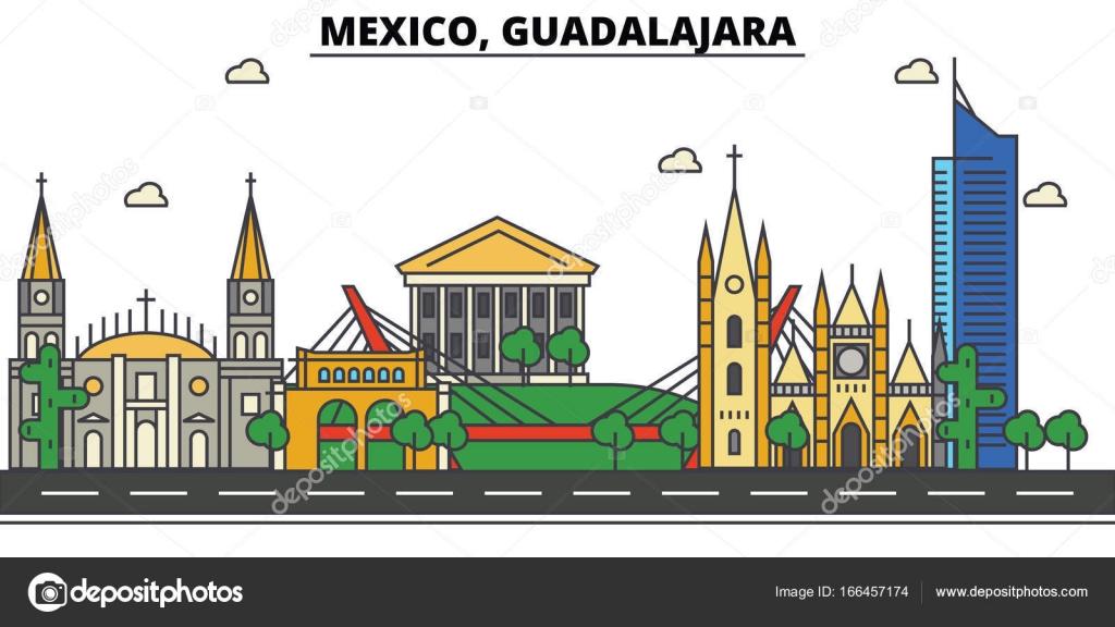Mexico, Guadalajara. City Skyline, Architecture, Buildings