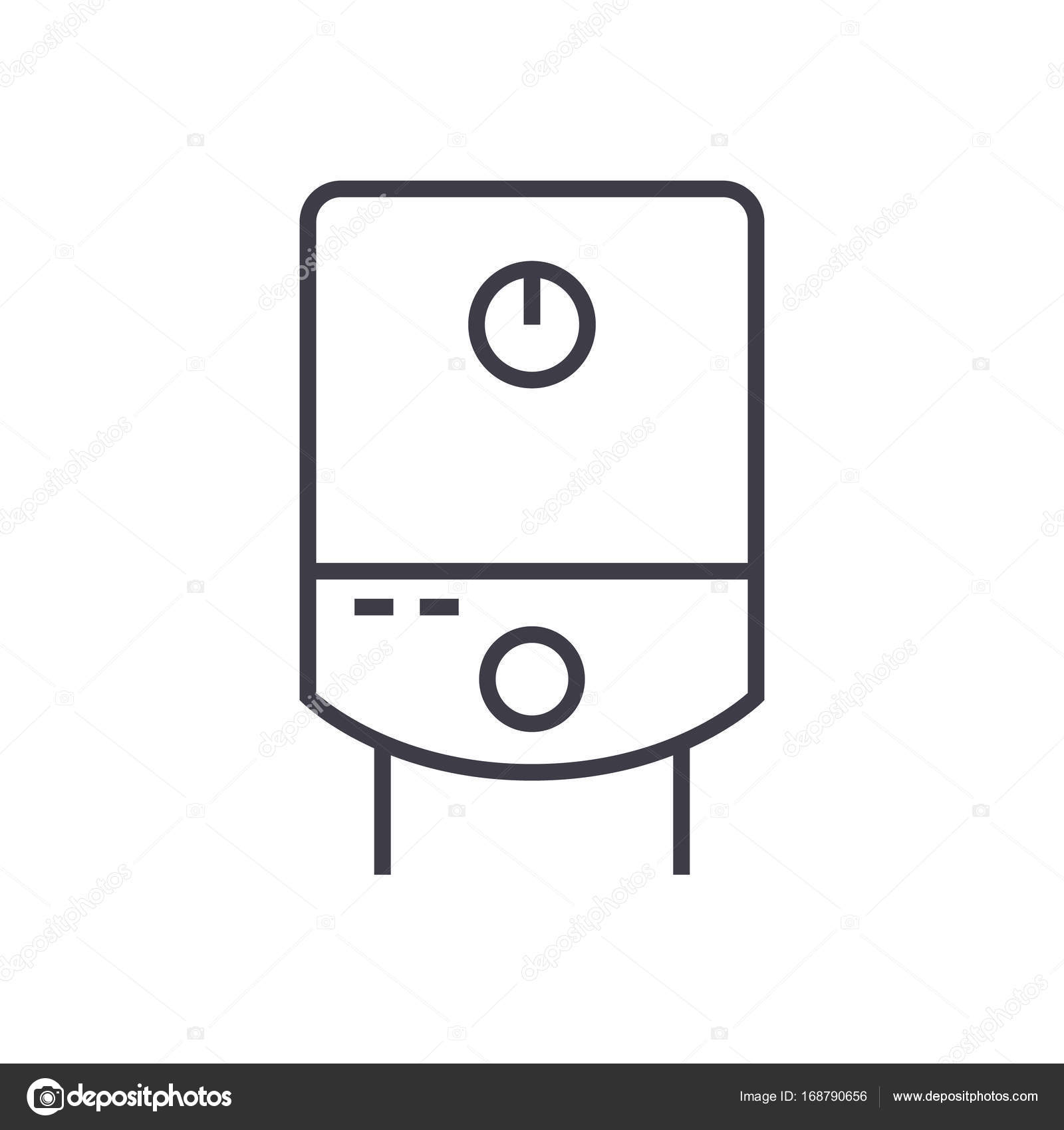 Gas tank water boiler vector line icon sign illustration on gas tank water boiler vector line icon sign illustration on background editable biocorpaavc