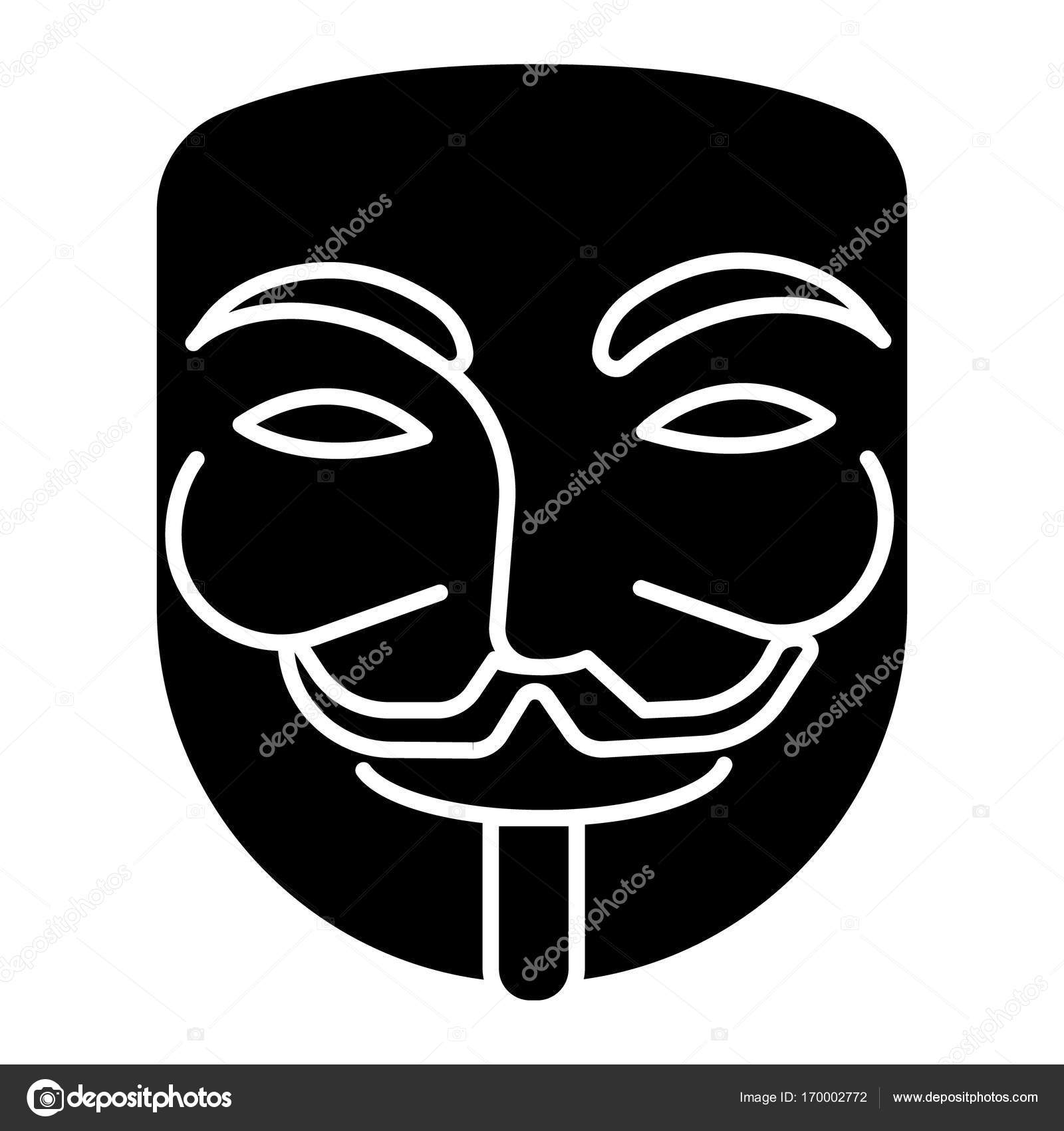 Anonymous Mask Carnival Hacker Icon Vector Illustration Black Sign On Isolated Background Stock Vector C Iconsgraph 170002772