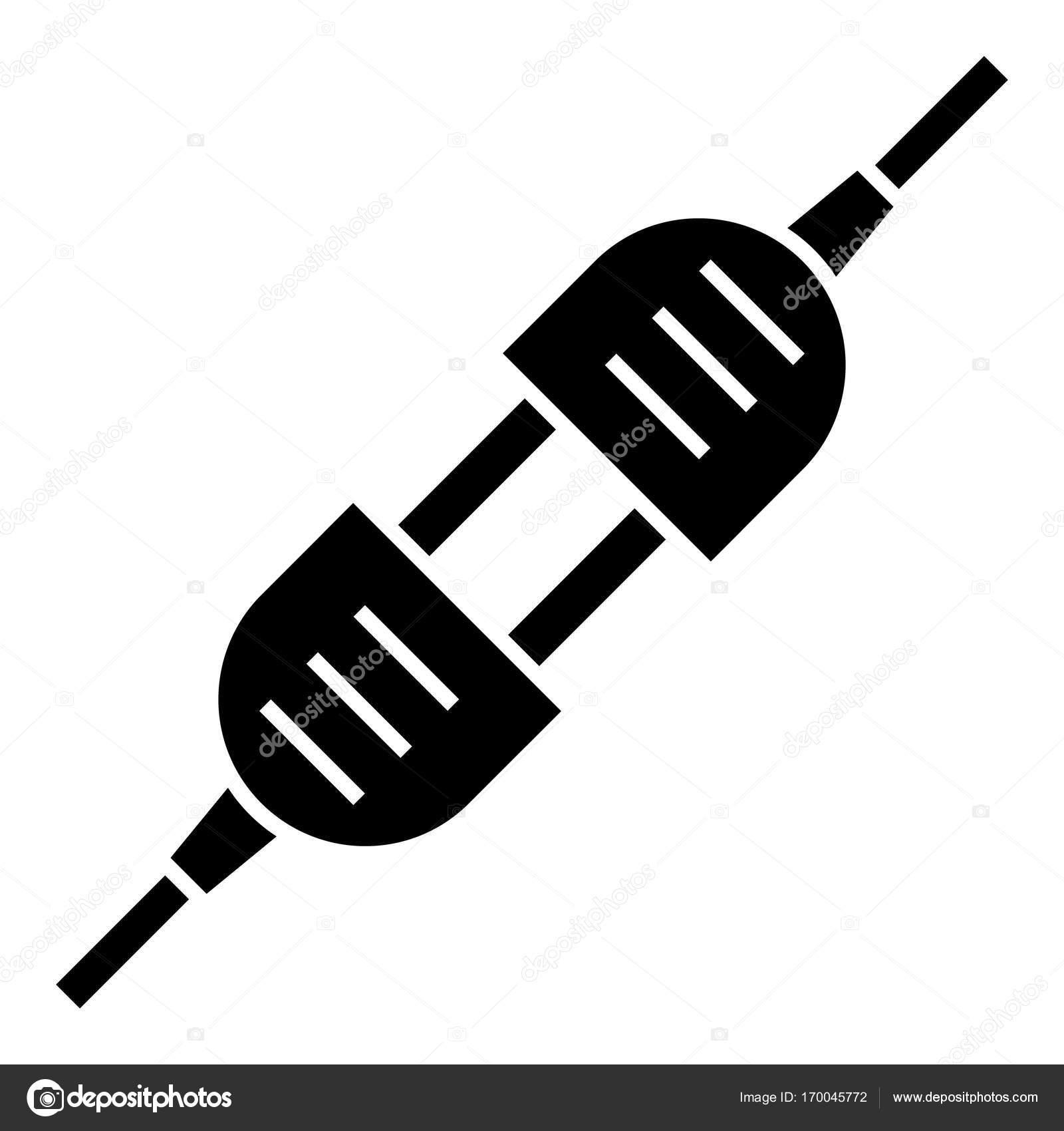 Swith anklicken - elektrische Steckverbindung, Vektor-Illustration ...