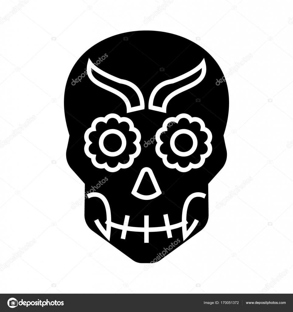 Erstaunlich Mexikanischer Totenkopf Das Beste Von Mexikanische Totenkopf-symbol, Tration, Vektor-zeichen Auf Isolierte Hintergrund