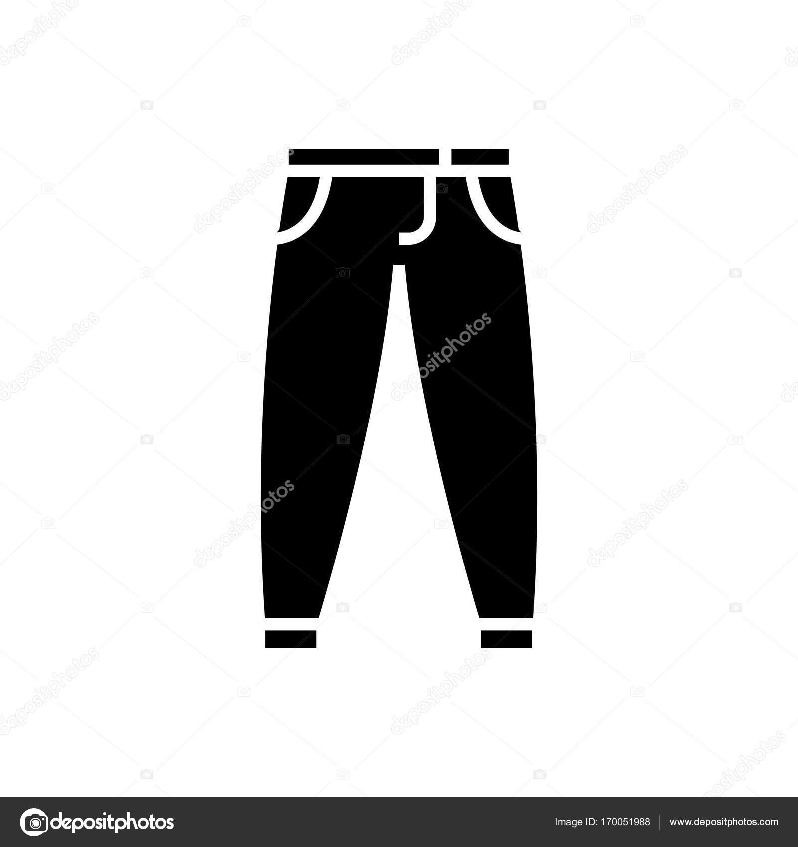 Pantolon Pantolon Kutsal Kişilerin Resmi Vektör çizim Izole Arka