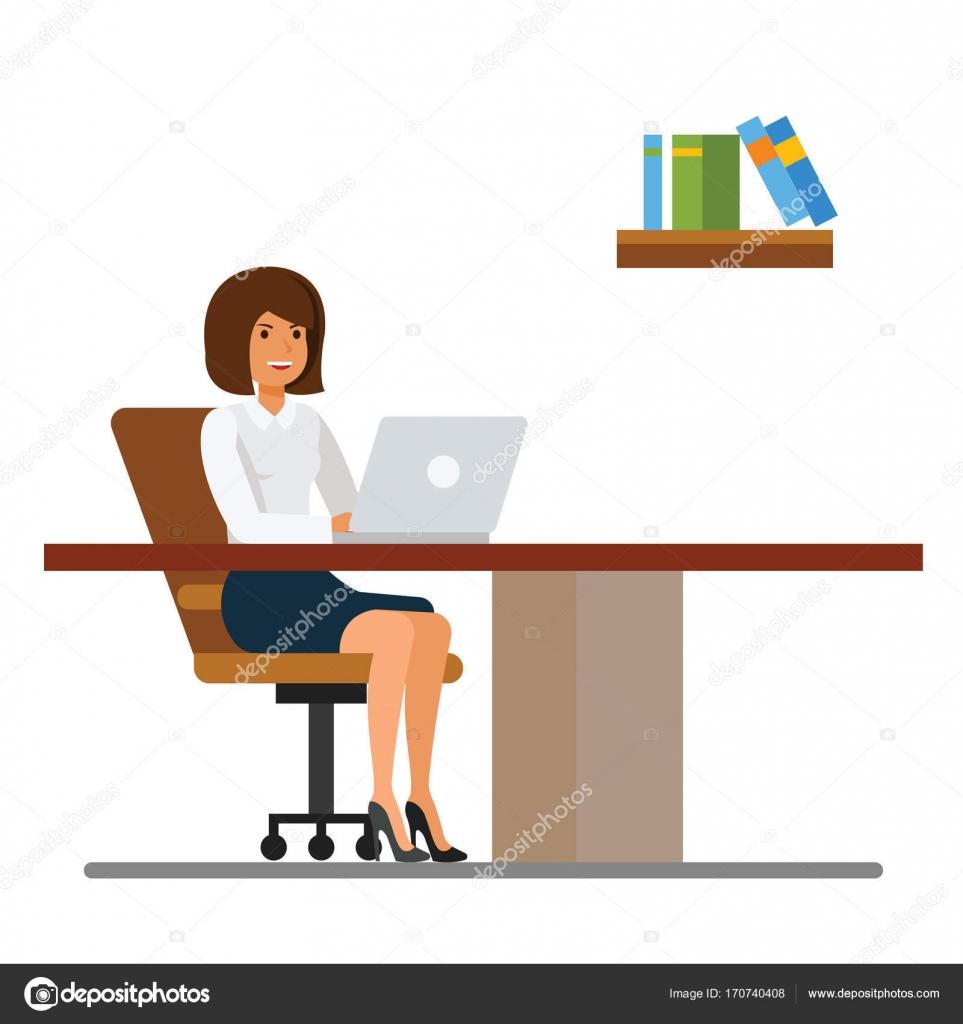 Secretaria trabajando en la oficina en el concepto de for Bureau de imagens