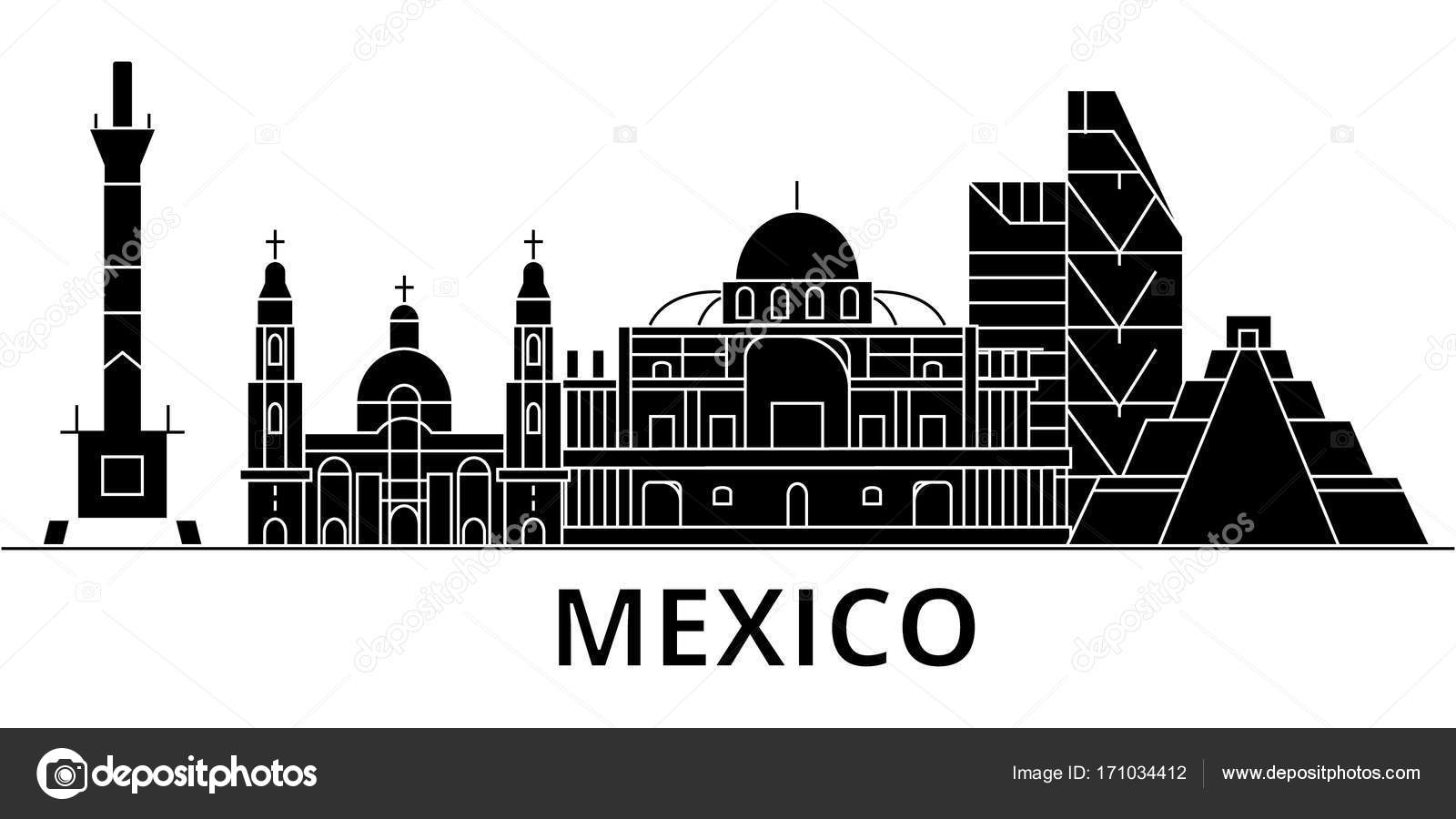 Skyline De Cidade Do México Arquitetura Vetorial