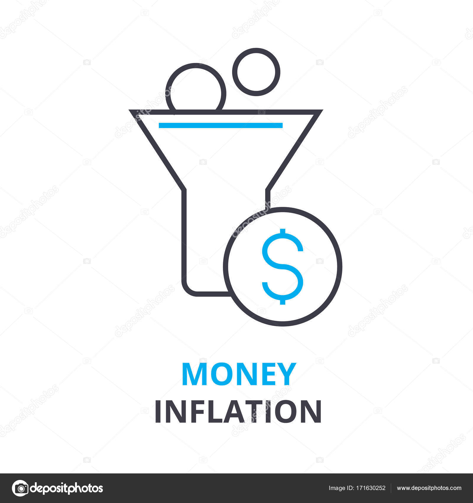 Money inflation concept outline icon linear sign thin line money inflation concept outline icon linear sign thin line pictogram logo flat vector illustration vector by iconsgraph ccuart Images