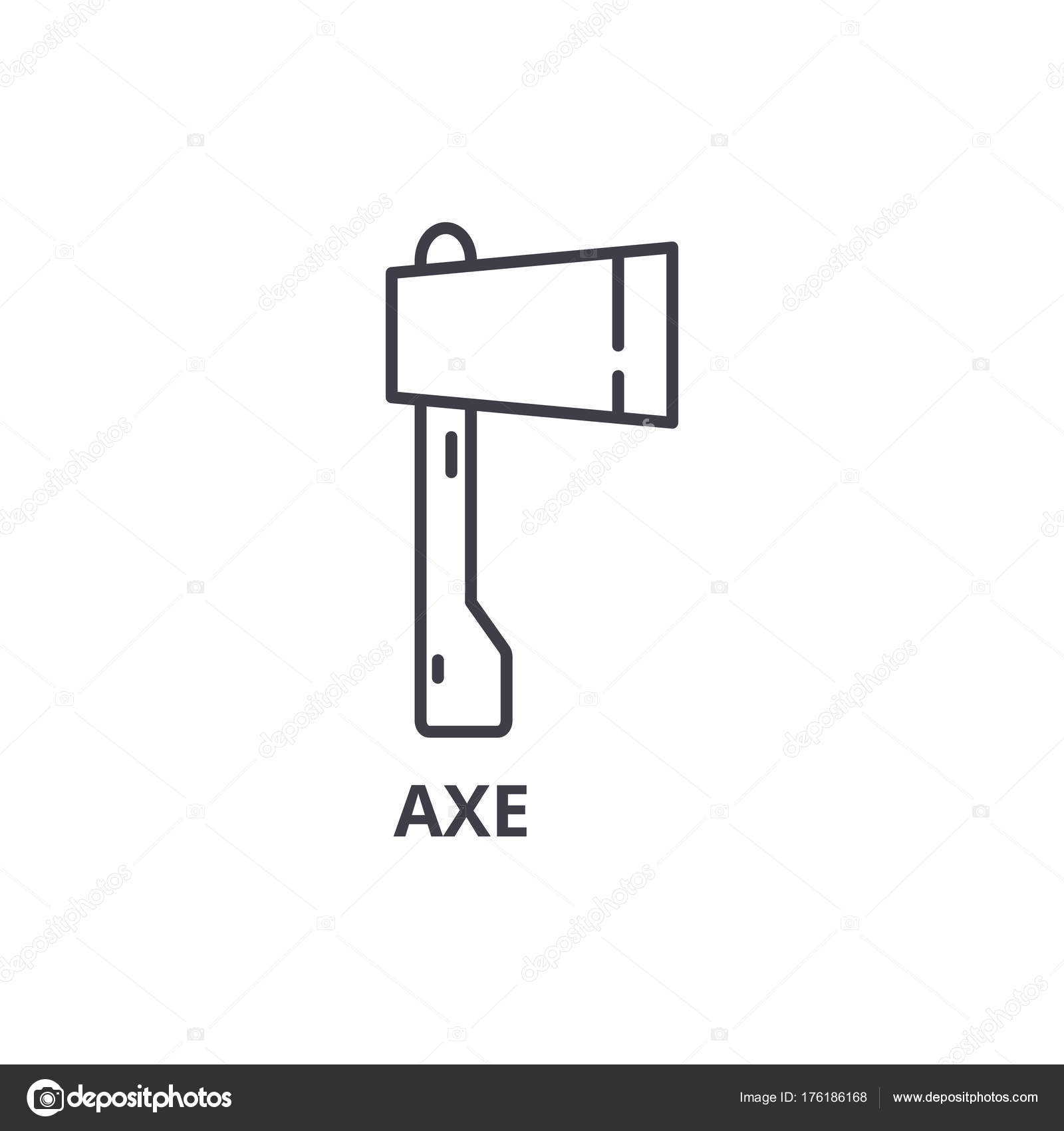 Axe line icon outline sign linear symbol vector flat axe line icon outline sign linear symbol flat vector illustration vector by iconsgraph buycottarizona Choice Image