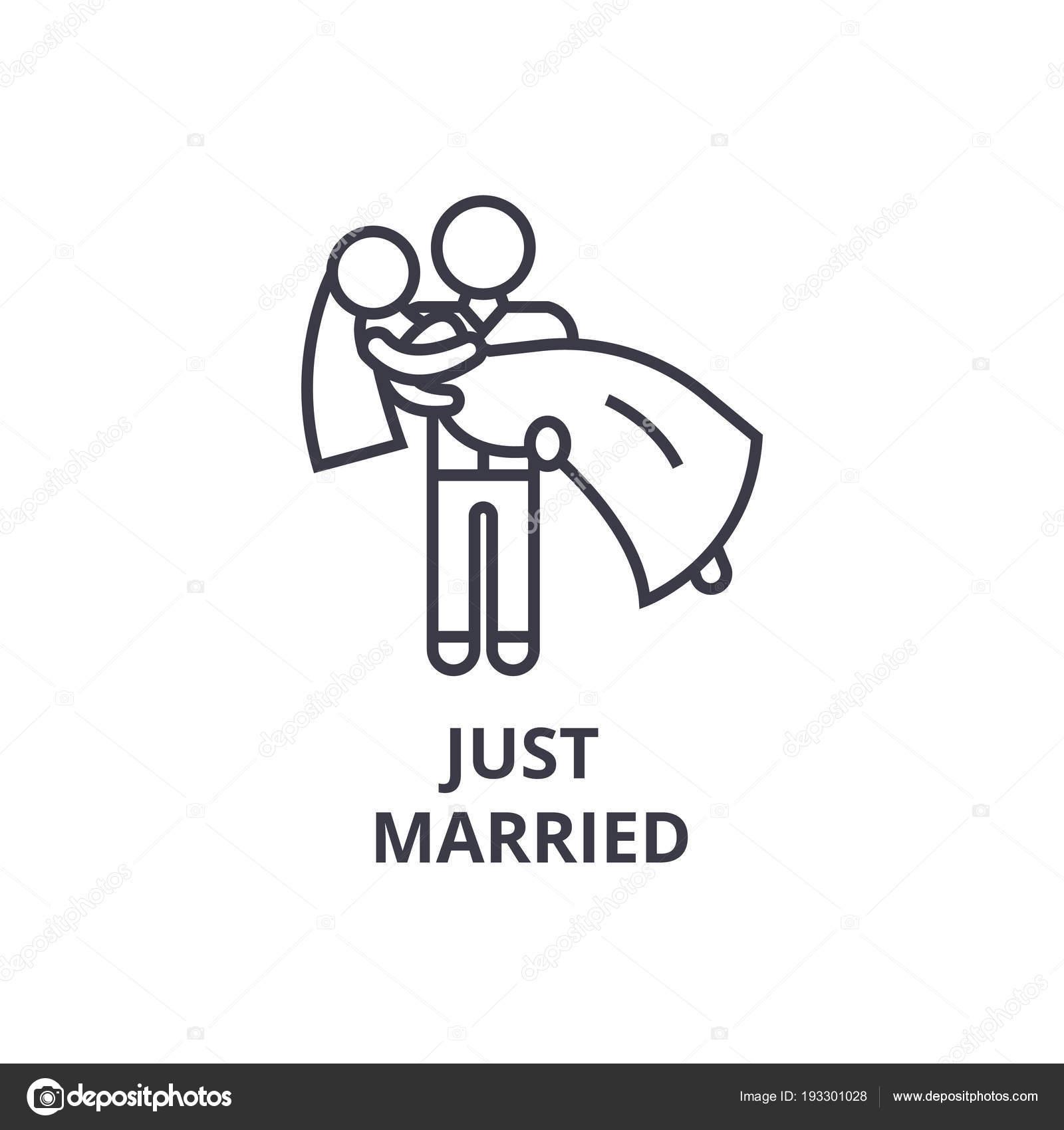 6f9c832631 icono de línea delgada apenas casado
