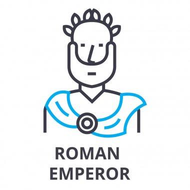 roman emperor thin line icon, sign, symbol, illustation, linear concept, vector