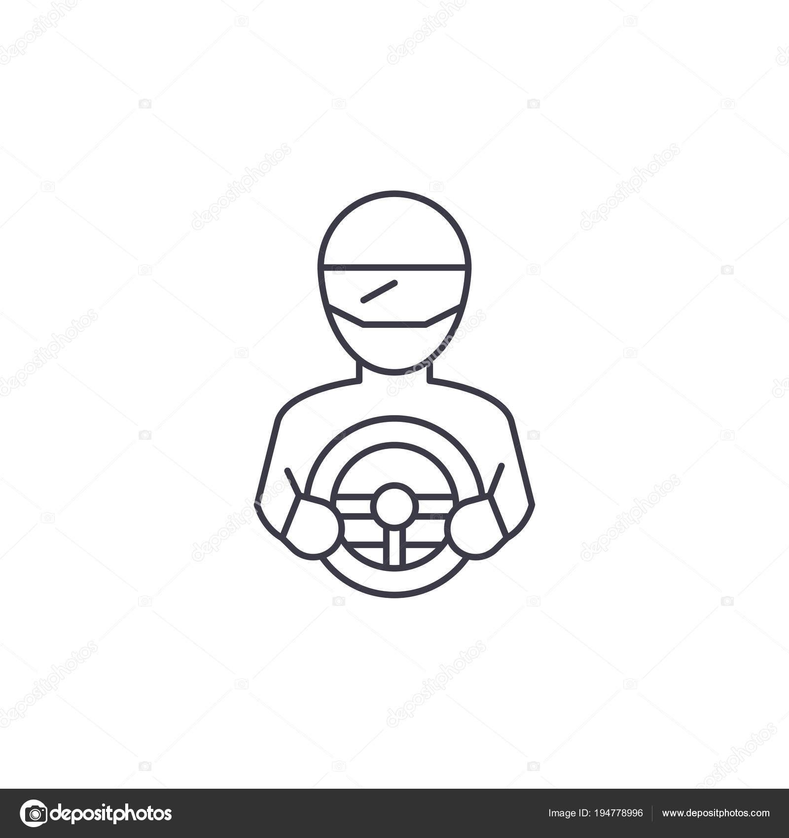 Imágenes Angeles Tiernos Para Imprimir Racer Vector Línea Icono