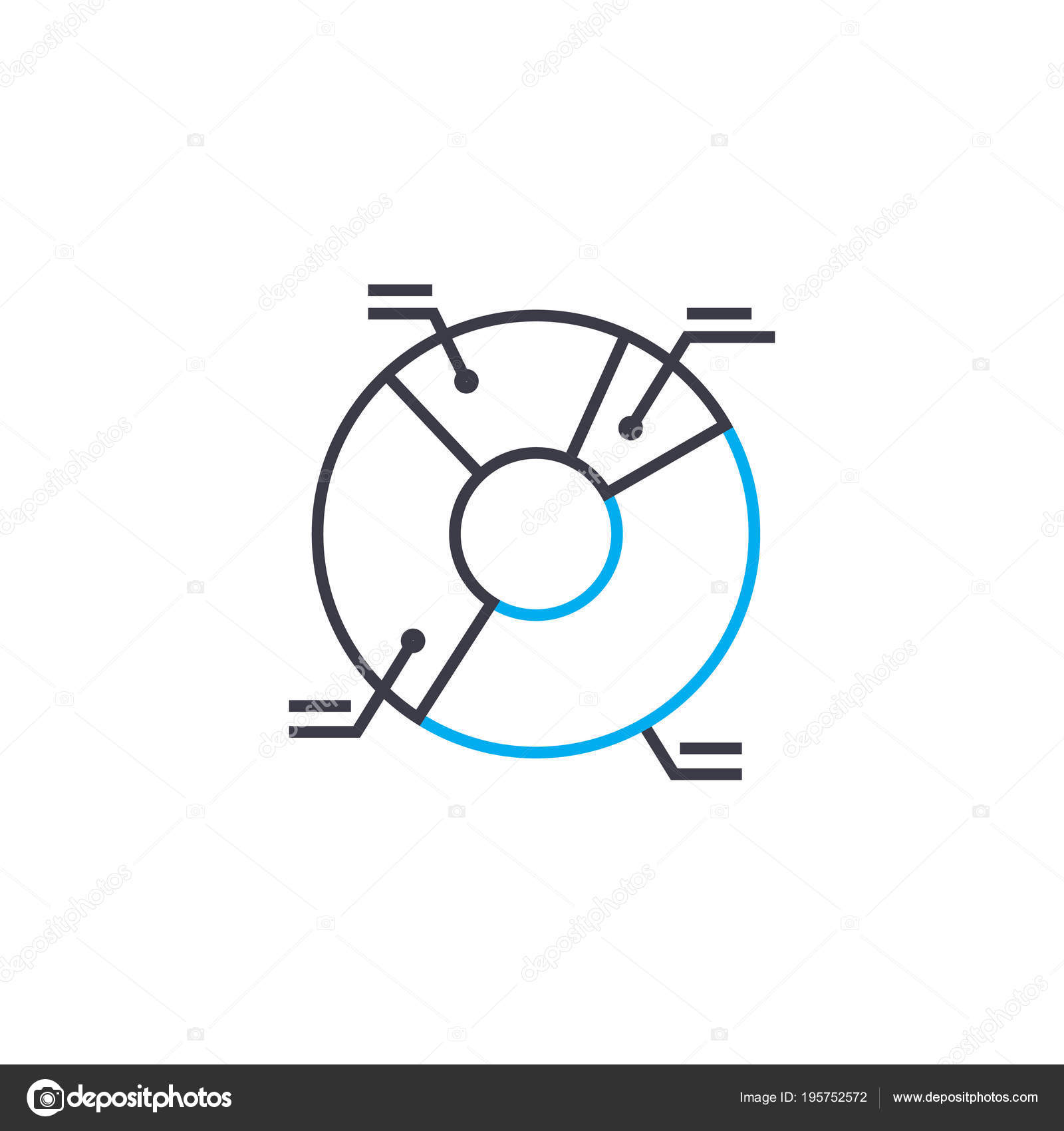 legend of the diagram vector thin line stroke icon  legend of the diagram  outline illustration