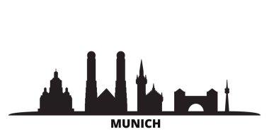 """Картина, постер, плакат, фотообои """"германия, мюнхен изолированная векторная иллюстрация. германия, мюнхен путешествия черный городской пейзаж картины нью-йорк"""", артикул 322469576"""
