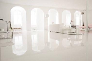 Modern white music studio
