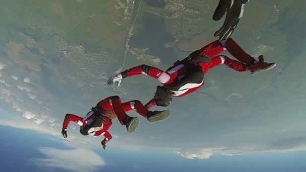 Fallschirmsprung-Video. Das Konzept der aktiven Erholung.