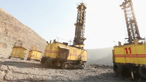 das Grubenbohrerpanorama, der industrielle Außenbereich