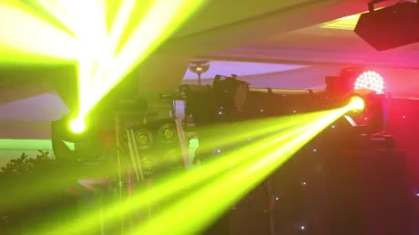 Színpad fények a konzolhoz, a koncert-színpad, szórakozás koncert, színpad, új év party, karácsonyi világítás világítás