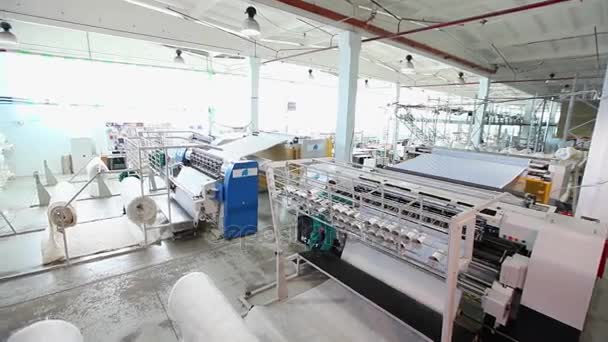 Textile factory, textile industry, warping machine, cotton thread, cloth  Manufacturing, sewing machines, textile machinery, equipment, weaving,  loom, modern factory