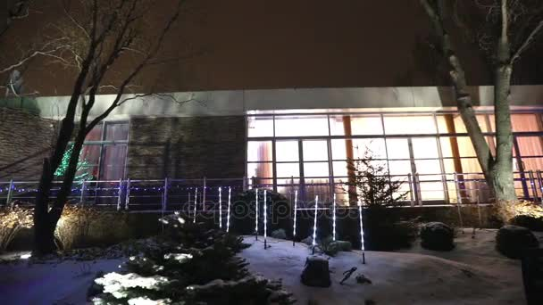 view modern house lights. Beautiful House Exterior Of Modern House Or Restaurant The Christmas Lights Are Lit On  Trees To View Modern House Lights
