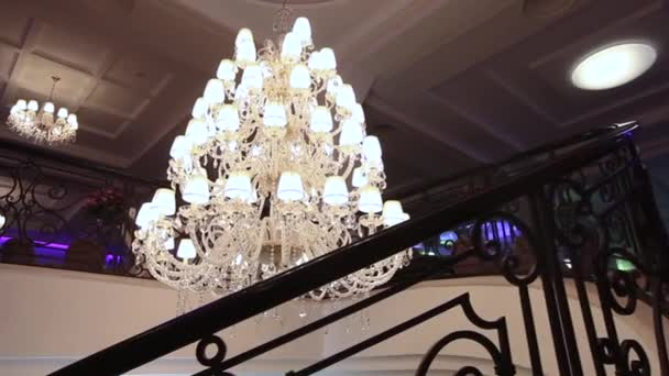 Luxury large crystal chandelier hanging in the palace vintage luxury large crystal chandelier hanging in the palace vintage lighting lamps with light bulbs and aloadofball Choice Image