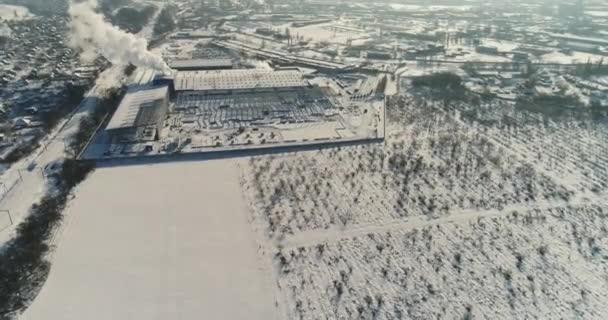 Der Bau einer modernen Fabrik Luftbild, eine große Eisenkonstruktion, eine moderne Fabrik Luftbild, Bau eines modernen Werk oder Lager, moderne industrielle außen