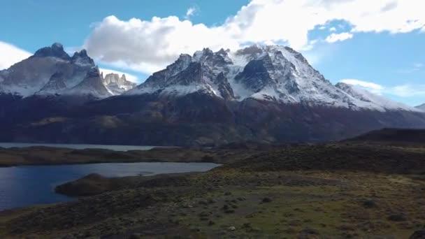 Mount Payne Grande, Nordenskjold Lake in Chile, Patagonia. View of Mount Payne Grande